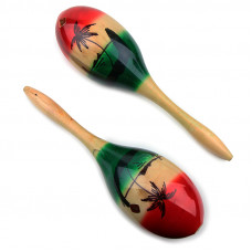 Mexican hardwood maracas, 27 cm long - E741