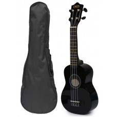 Black Soprano Ukulele and Bag Package - EUB-1000