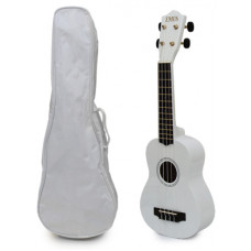 White Soprano Ukulele and Bag Package - EUB-2000