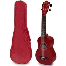 Red Soprano Ukulele and Bag Package - EUB-5000