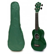 Green Soprano Ukulele and Bag Package - EUB-9000