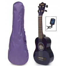 Purple Soprano Ukulele, bag & tuner - UBT-3000